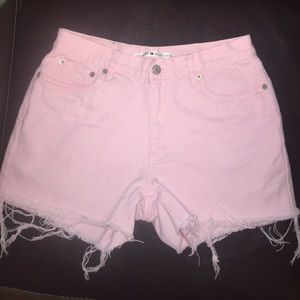 Tommy High Waisted Cut off Denim shorts